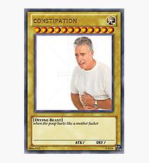 constipation yu gi oh Photographic Print