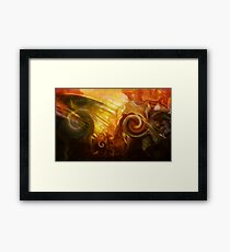 Dark passion Framed Print