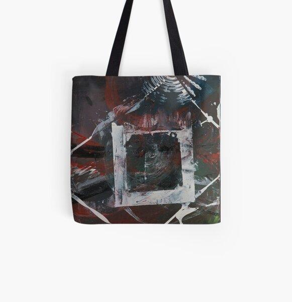 Block and Sunburst All Over Print Tote Bag