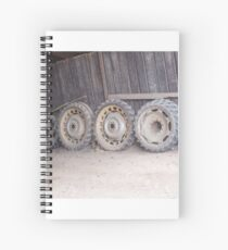 Wheels on the wall Spiral Notebook
