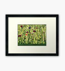 Gleeful Garden Framed Print