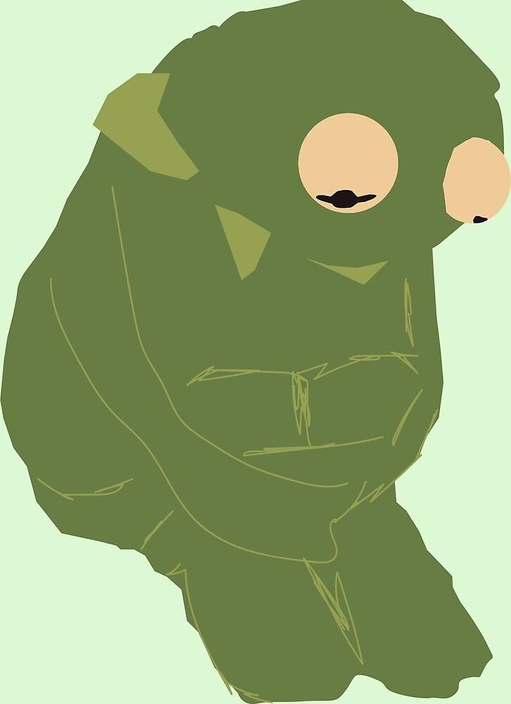 Sad Kermit Abstract by DreamingNoah