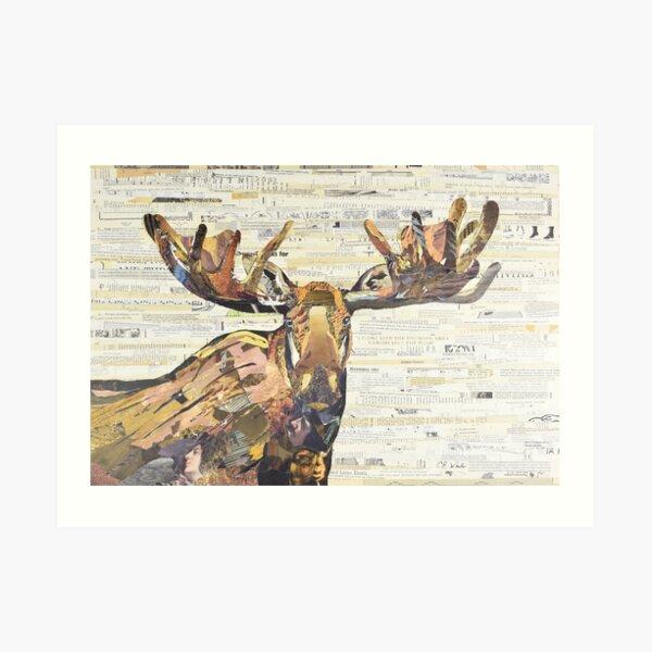 Moose Collage Art C.E. White Art Print