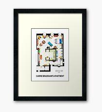 Carrie Bradshaw's Apartment Floorplan v.2 Framed Print
