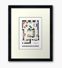 Carrie Bradshaw's Apartment Floorplan v.2 Framed Print