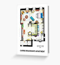 Carrie Bradshaw's Apartment Floorplan v.2 Greeting Card