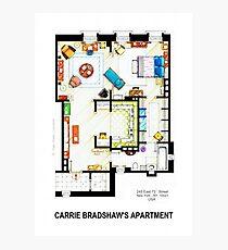 Lámina fotográfica Carrie Bradshaw's Apartment Floorplan v.2