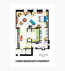 Carrie Bradshaw's Apartment Floorplan v.2 Photographic Print