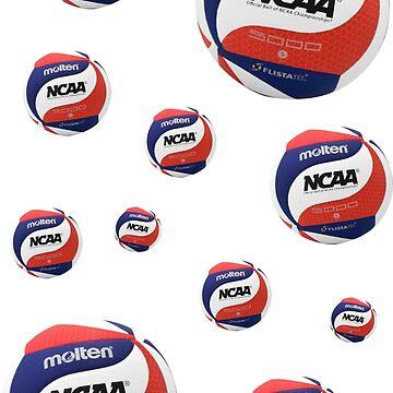 Volleyball Mini Stickers Molten NCAA by kaylaboose