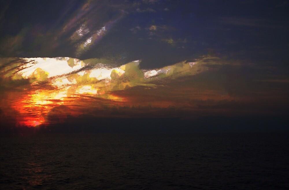 Abstract sunset by John Stuart Webbstock