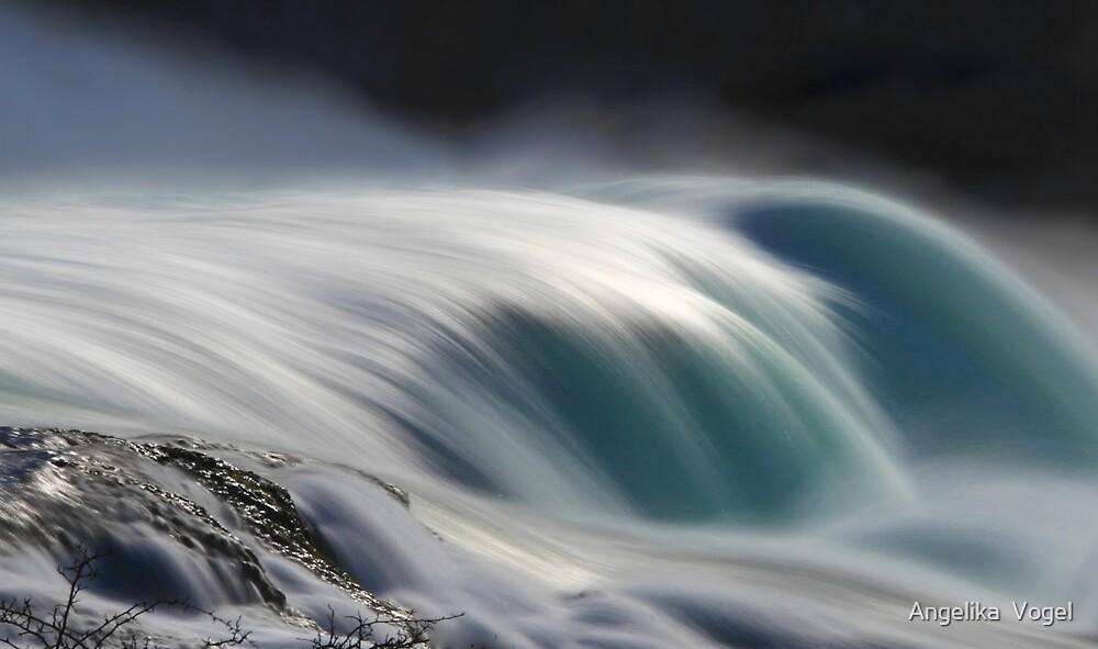 Soft Waves ... Rhinefall in Schaffhausen by Angelika  Vogel