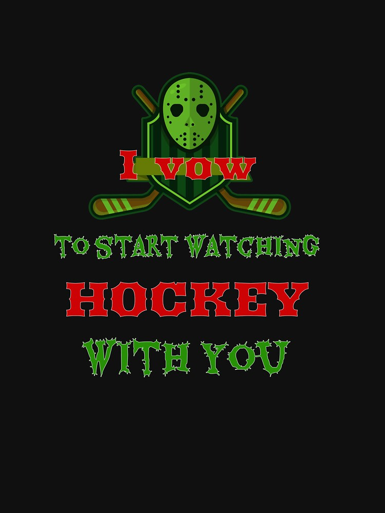 Hockey Funny Tees T-shirt for Men Women Adult  by Zavola