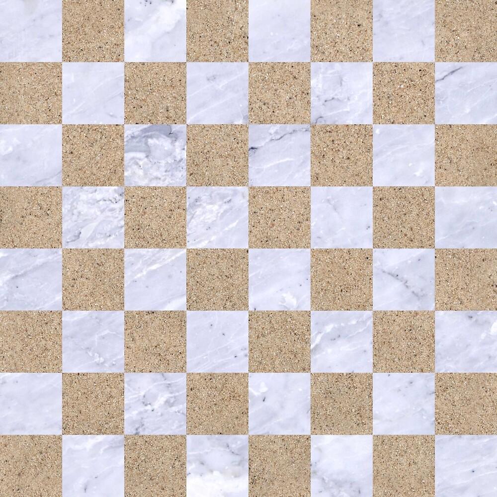 SQUARE1 WHITE MARBLE & SAND by johnhunternance