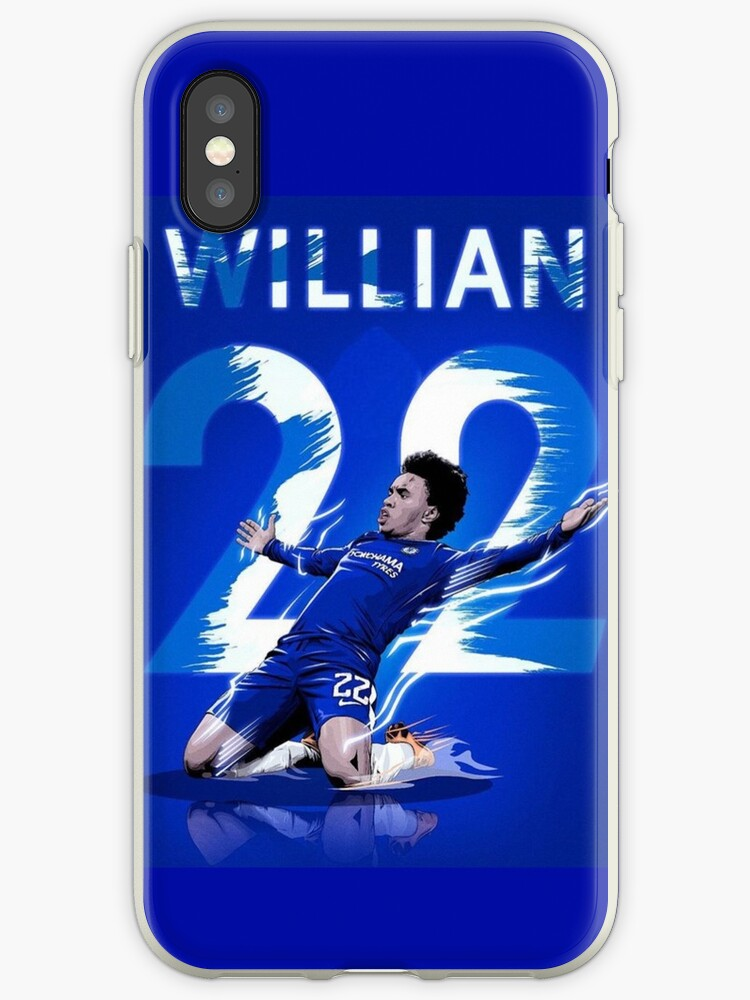 Willian of Chelsea Goal Celebration by Jacob Crotty