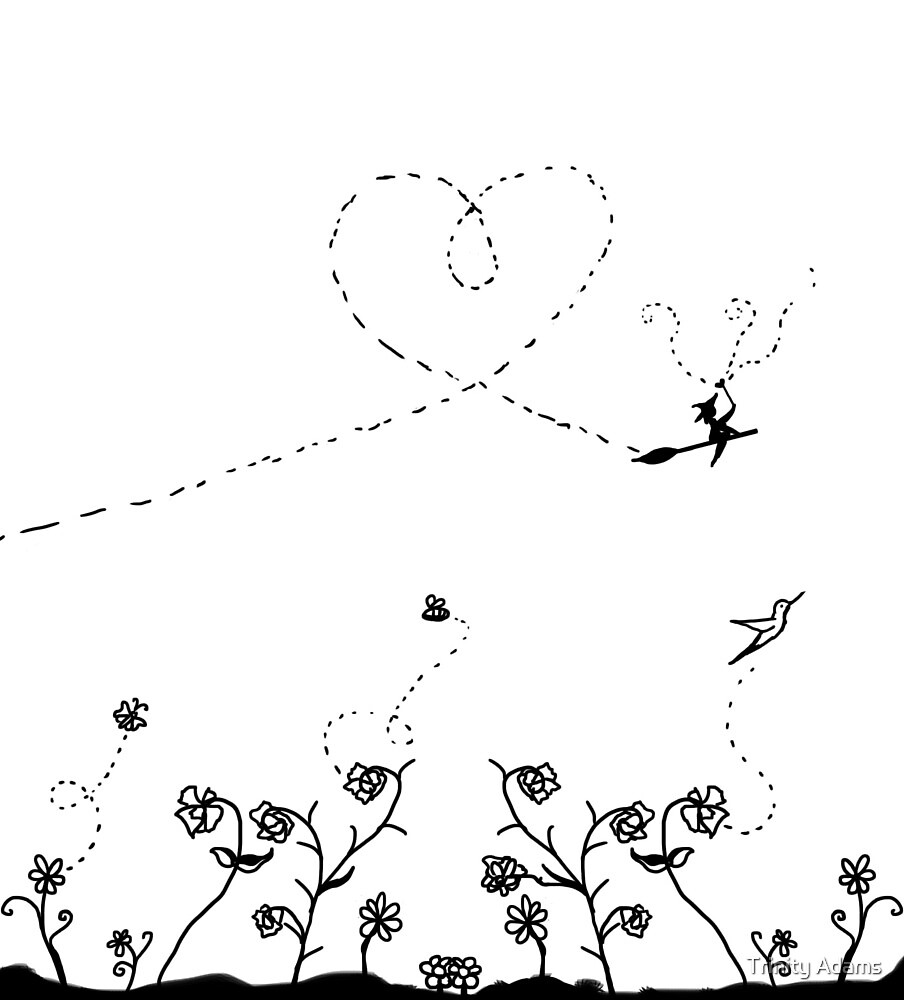 Just a Simple Happy Garden by Trinity Adams