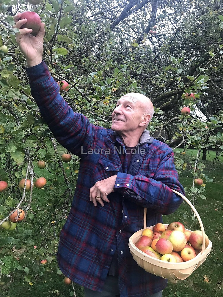 Patrick Stewart in an Orchard by Laura Nicole