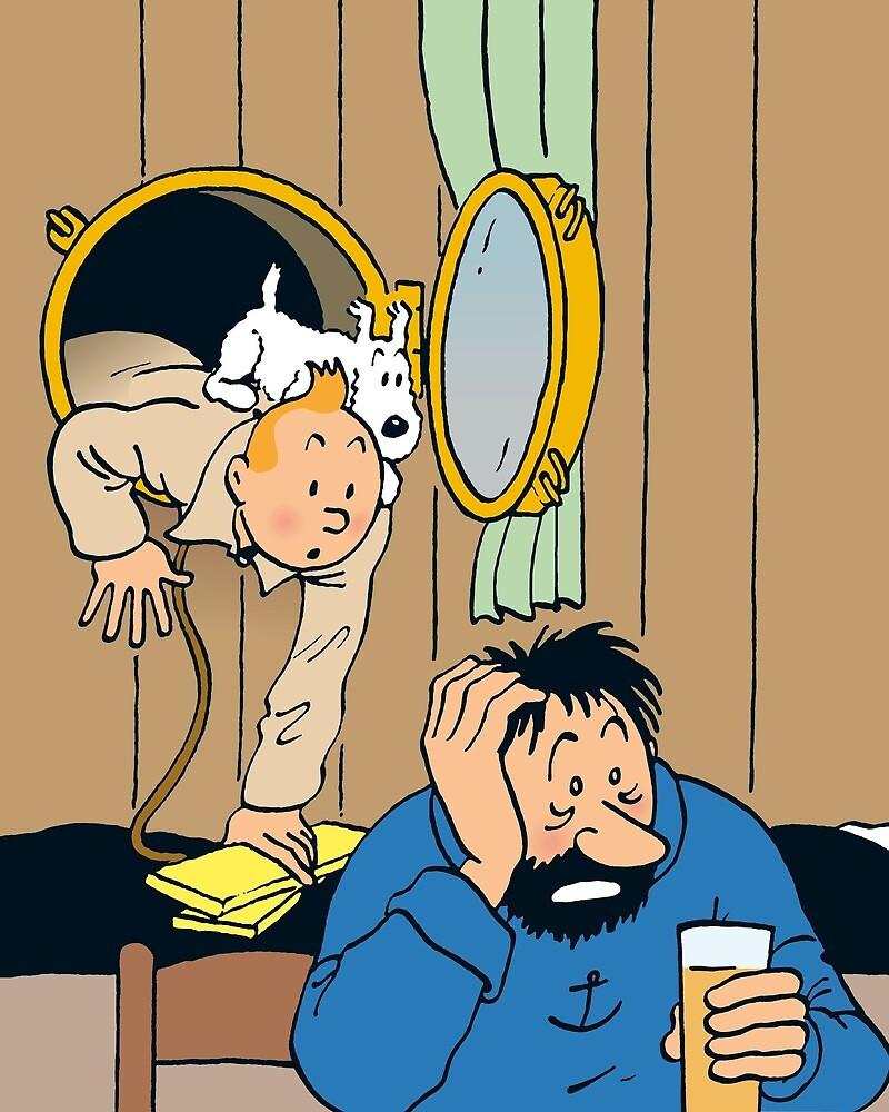 Tintin + Haddock Drink by dessinart