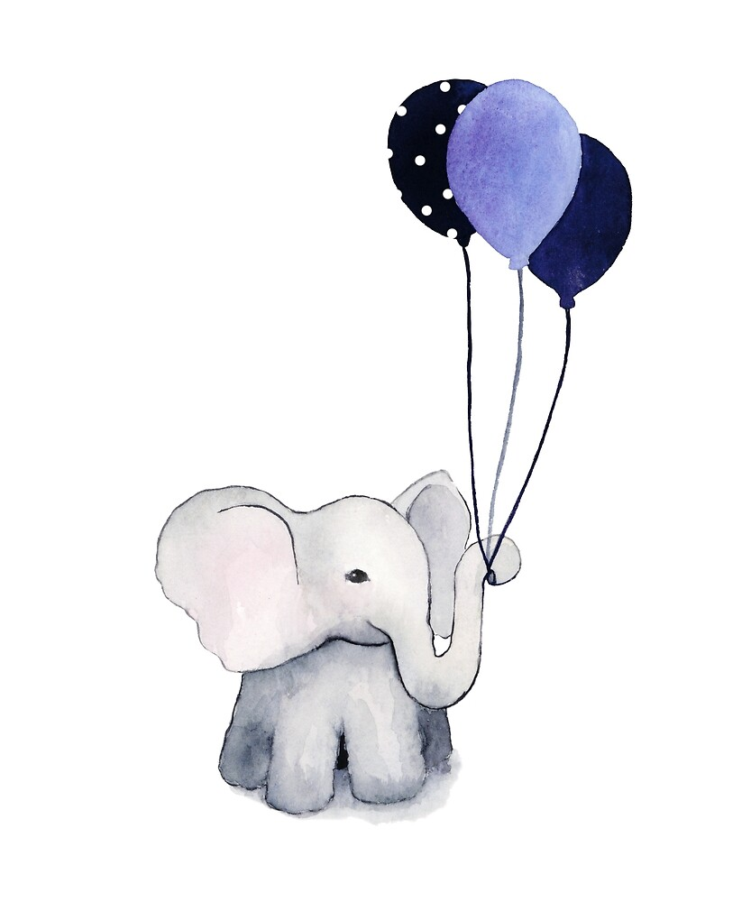 Elephant with Balloons by coraeklund