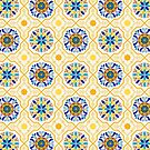 Cheery Spanish - Moroccan Tiles in Butter Yellow by ZirkusDesign