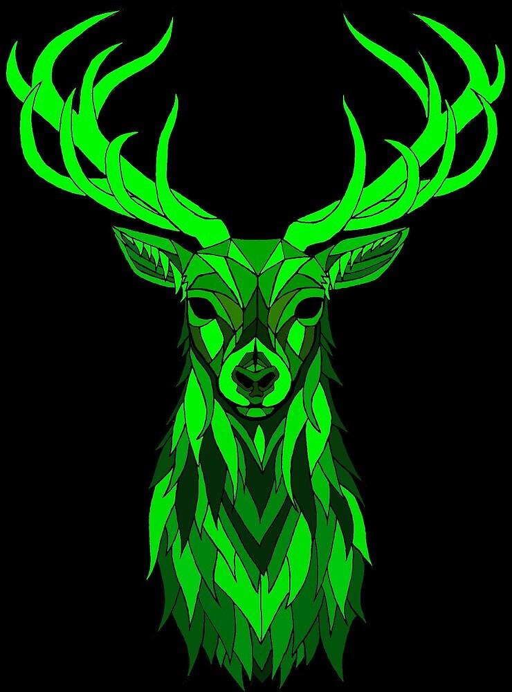 Green Stag by mleskogk1