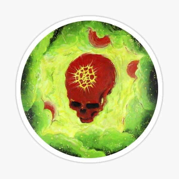 skull planet Sticker