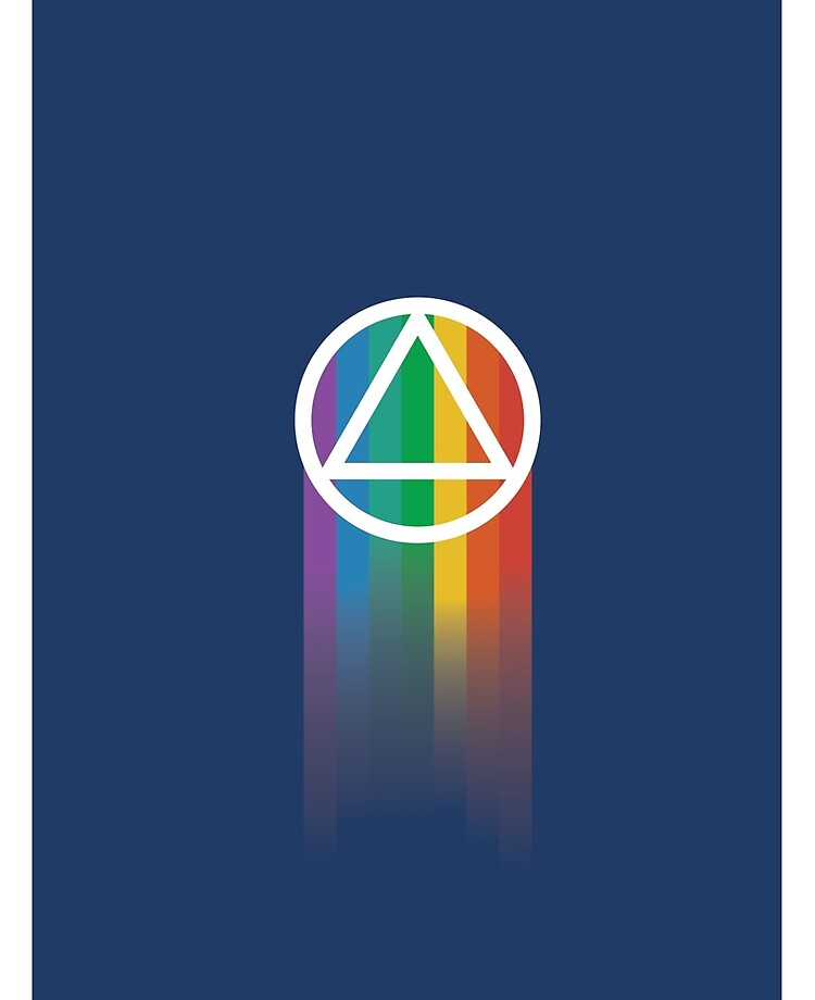 ALCOHOLICS ANONYMOUS Vinyl Decal Sticker AA Sober Living Symbol Steps Bill