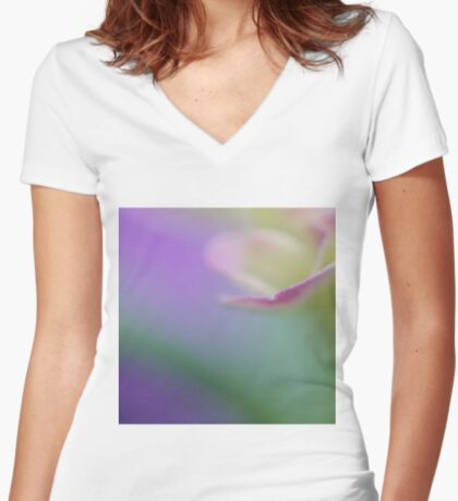 Play of Natural Colors Women's Fitted V-Neck T-Shirt