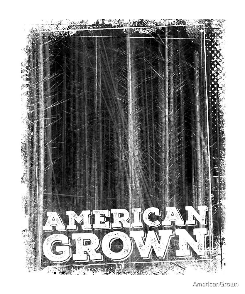 American Grown, trees and forest original art print by AmericanGrown