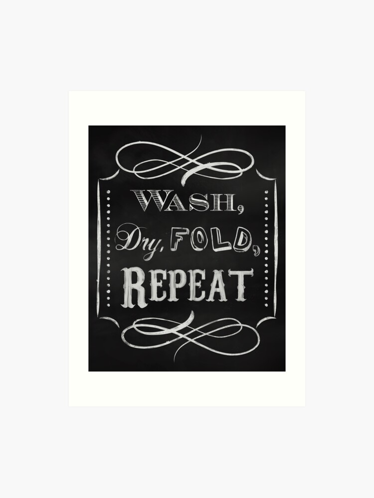 Laundry Room Print Chalkboard Wall Decor For The Home Art Print