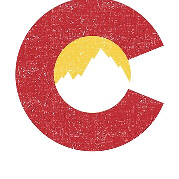 Colorado Flag Denver State of Colorado Rocky Mountains by ColeLaniTrading