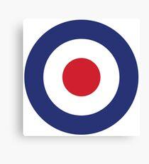 RAF Roundel MOD Target Bullseye Red White & Blue Circle Canvas Print