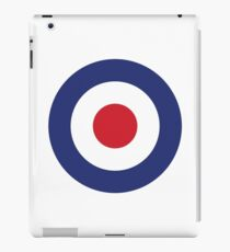 RAF Roundel MOD Target Bullseye Red White & Blue Circle iPad Case/Skin