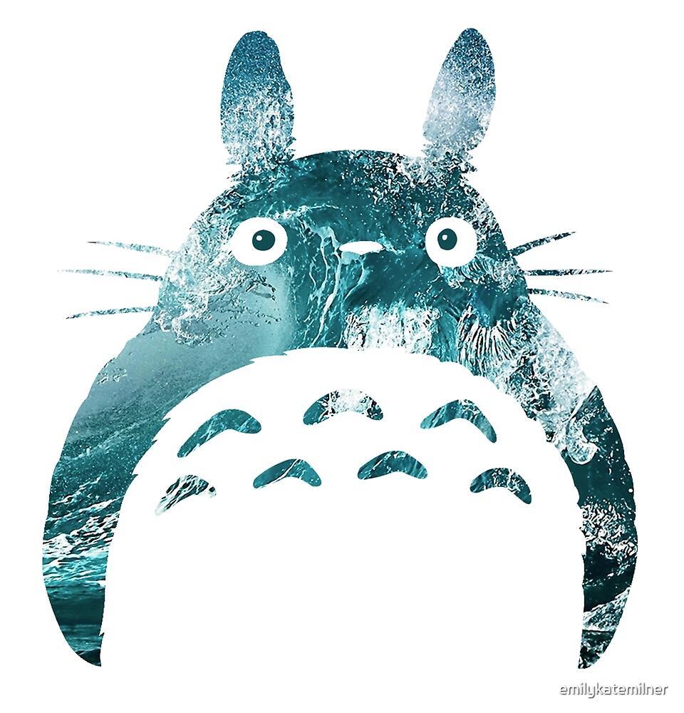 Wavy Totoro by emilykatemilner