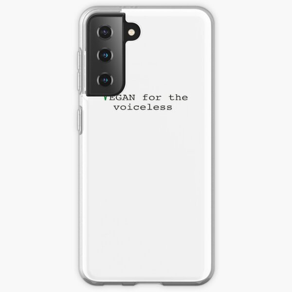 vegan for the voiceless Samsung Galaxy Soft Case