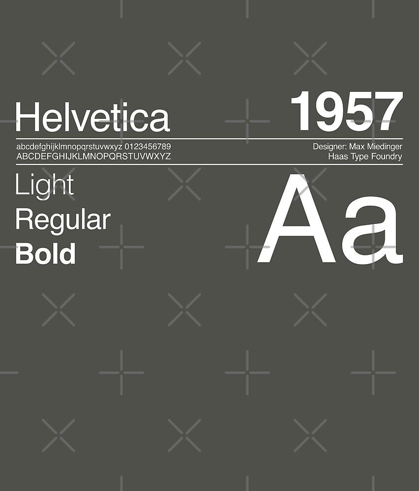 Helvetica Sans Font Typography Design by paperpark