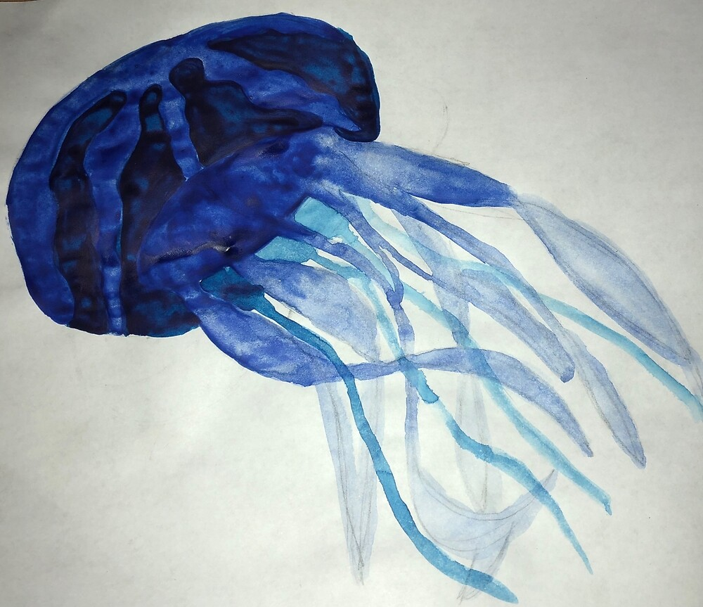Blue Jellyfish by aliviaapowers