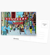 Tintin in rickshaw Postcards