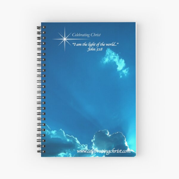 Celebrating Christ Silver Lined Clouds  - From ccnow.info Spiral Notebook