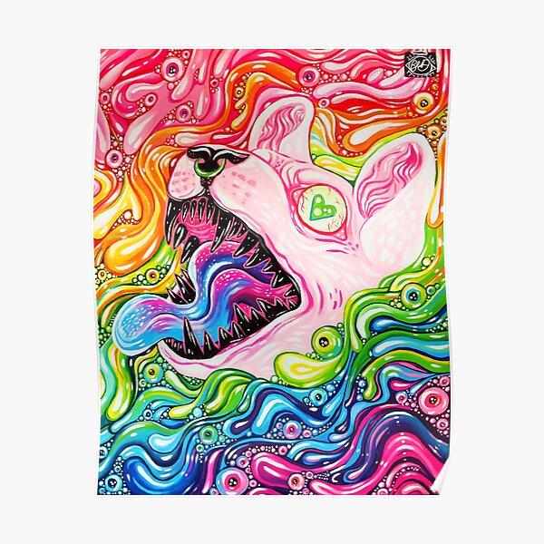 Glitterkitty - Acrylic Painting Poster
