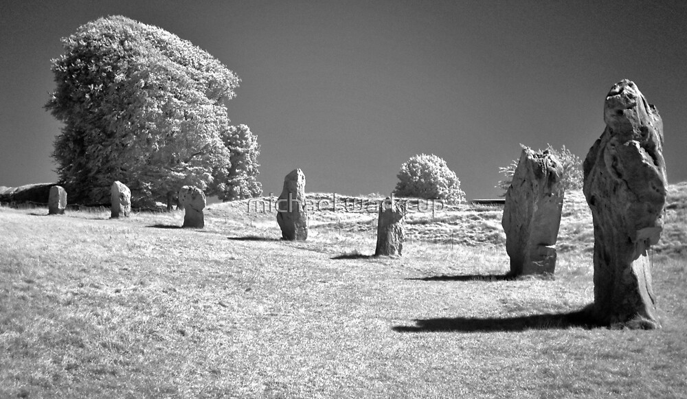 Avebury, neolithic stone circle 3 by michael warkcup
