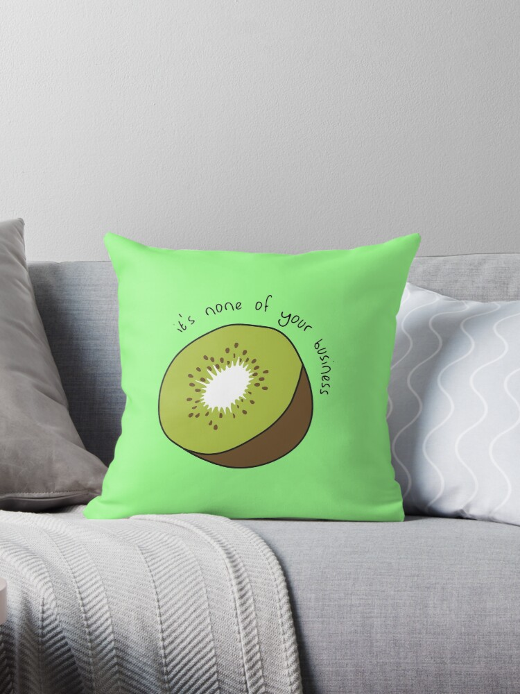 Harry Styles Kiwi Throw Pillow By Onembrace Redbubble