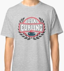 USA Curling Olympic Sport  Classic T-Shirt