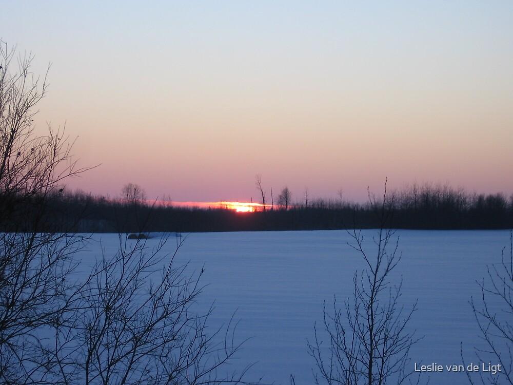 Winter Blues Sunset by Leslie van de Ligt
