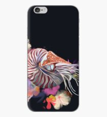 Chambered Nautilus and Flowers iPhone Case