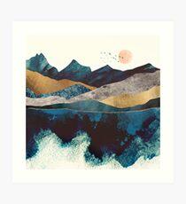 Blue Mountain Reflection Art Print