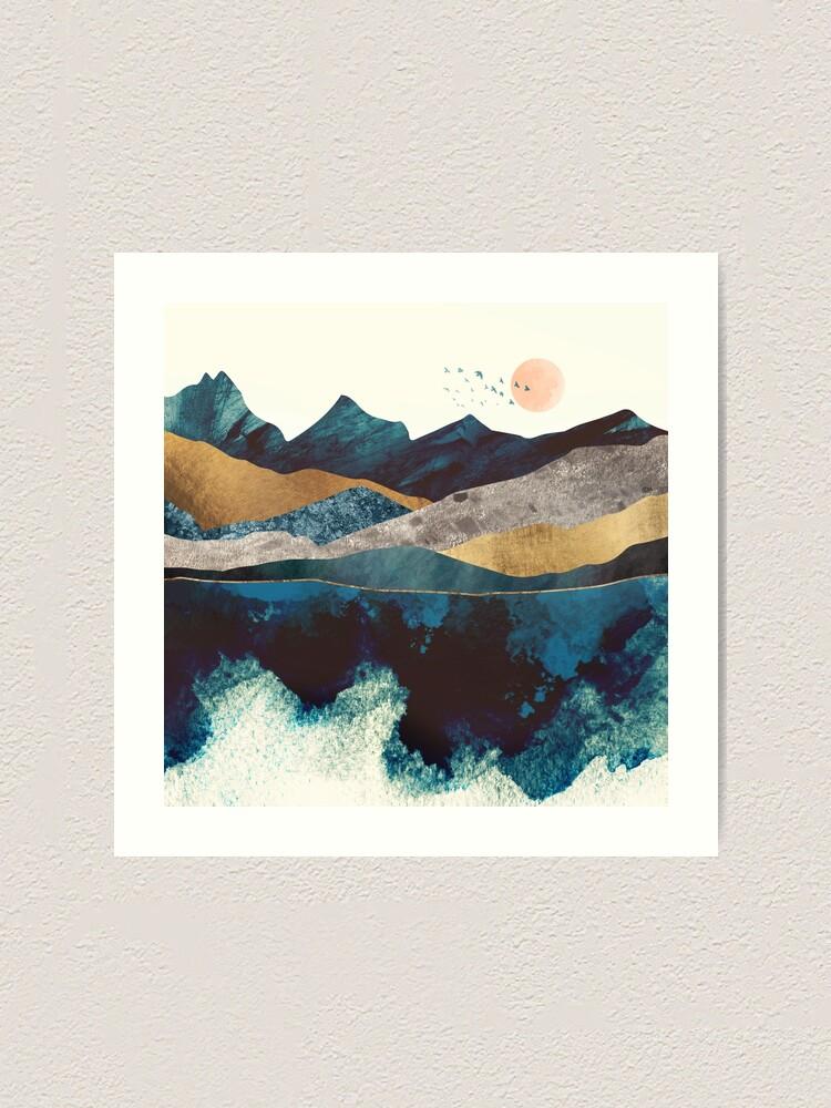 Alternate view of Blue Mountain Reflection Art Print