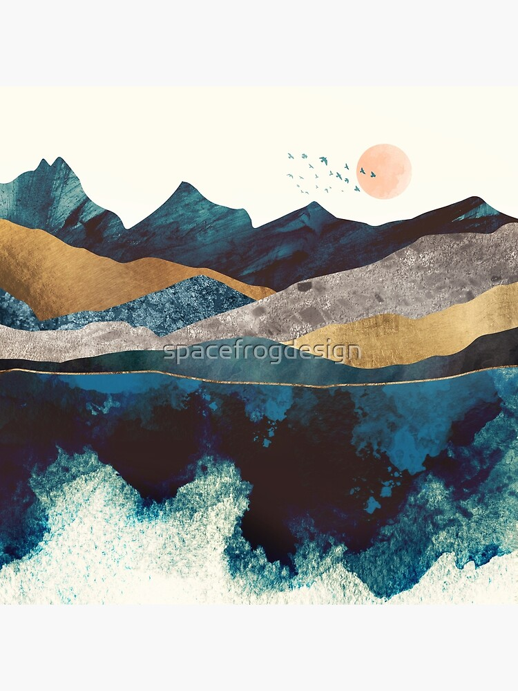 Blue Mountain Reflection by spacefrogdesign