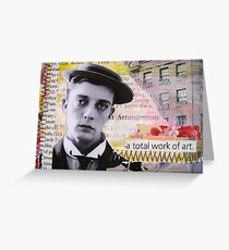 A Total Work of Art (Buster Keaton) Greeting Card