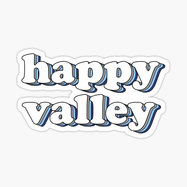 happy valley retro Sticker