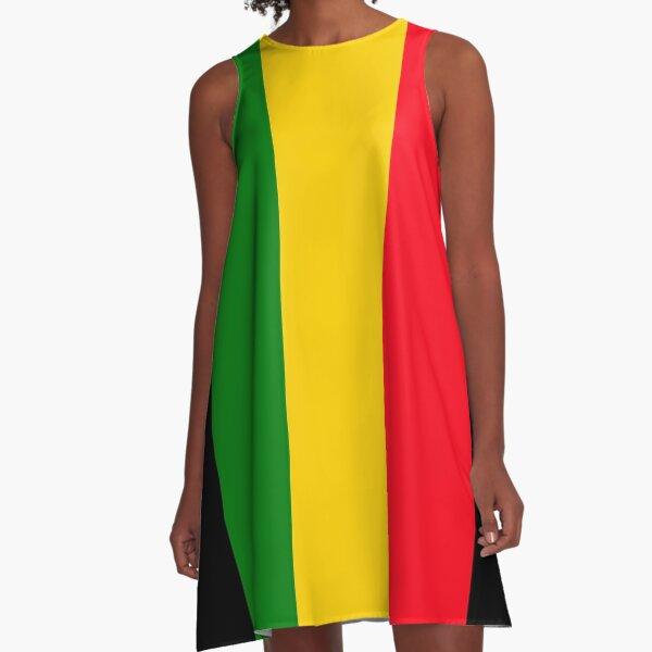 Reggae Vibes A-Line Dress